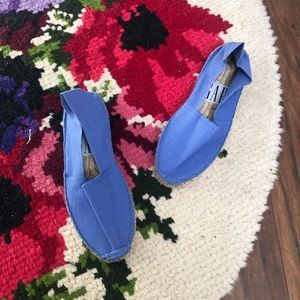Gap Bright Blue Slip On Espadrille Flats Shoes
